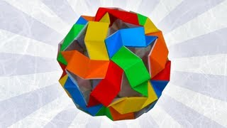 Origami Bouncy Unit Icosahedron By Tom Hull (folding Instructions)