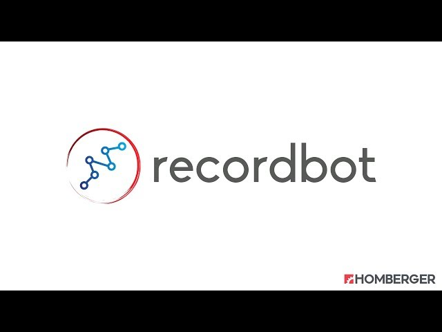 Recordbot - Robot Programming for Humans by Homberger Spa