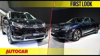 Honda Civic and CR-V | First Look | Auto Expo 2018 | Autocar India