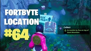 Fortnite Fortbyte 64 Accessible By Rox On Top Of Stunt Mountain