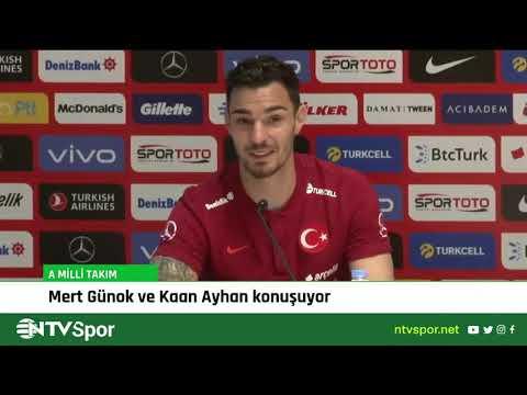 Milli futbolcularımız Mert Günok ve Kaan Ayhan, basın toplantısı düzenliyor