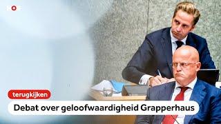 Terugkijken: Kamerleden fel over geloofwaardigheid Grapperhaus