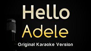 Hello - Adele (Karaoke Songs With Lyrics - Original Key)