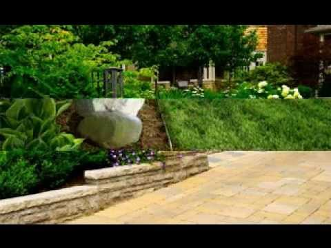 Brick garden edging ideas - YouTube