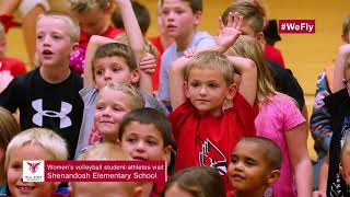 Charlie Cardinal Visits Shenandoah Elementary School