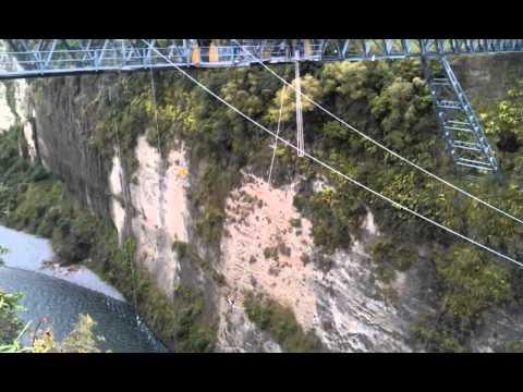80m Bungy Jump @ Gravity Canyon, Taihape, New Zealand