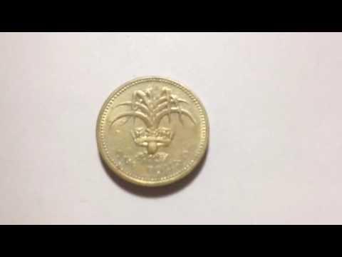1 Pound- Elizabeth II Welsh Leek Coin  Date: 1985