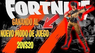 PLAYING THE NEW MODE 20 VS 20/FORTNITE-TIZI THE CRACK