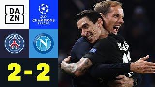 90+3! Angel Di Maria lässt Thomas Tuchel jubeln: PSG – SSC Neapel 2:2 | UEFA CL | DAZN Highlights