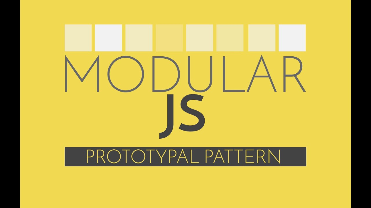 Modular Javascript Prototypal Pattern Vs Classical Oop In Js Youtube