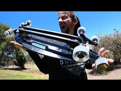 THE 8 WHEELED ALL ROVER SKATEBOARD! | SKATE CIRCUS