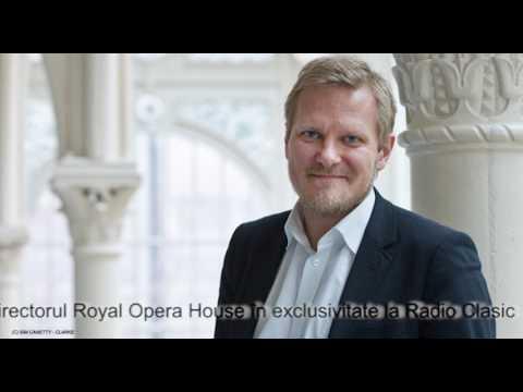 Kasper Holten, director Royal Opera House, în exclusivitate la Radio Clasic