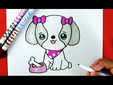 Dog drawing easy cute - photo#40