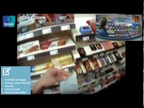 Shopper research with use of Eye tracking and Live viewing.