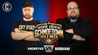 TITLE MATCH! Marc Andreyko VS William Bibbiani - Movie Trivia Schmoedown
