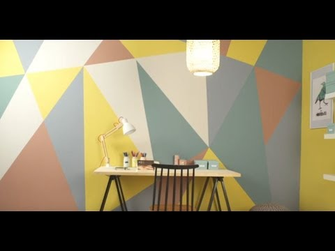 Peindre vos murs avec des formes g om triques youtube for Peindre des formes geometriques sur un mur