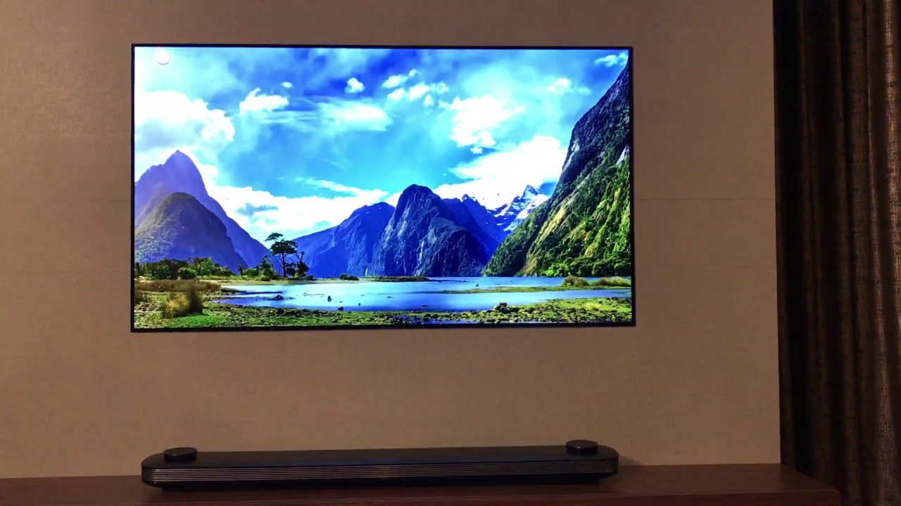 Dolby Atmos Soundbar On Lg Wallpaper Oled Youtube