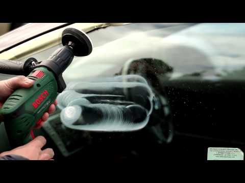 How to remove scratches from car side windows by using DIY GP-WIZ Windscreen Scratch Repair Kit