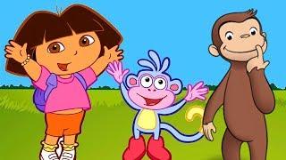 Jorge el Curioso y Dora La exploradora, rescatan a Botas Dora la Exploradora en español