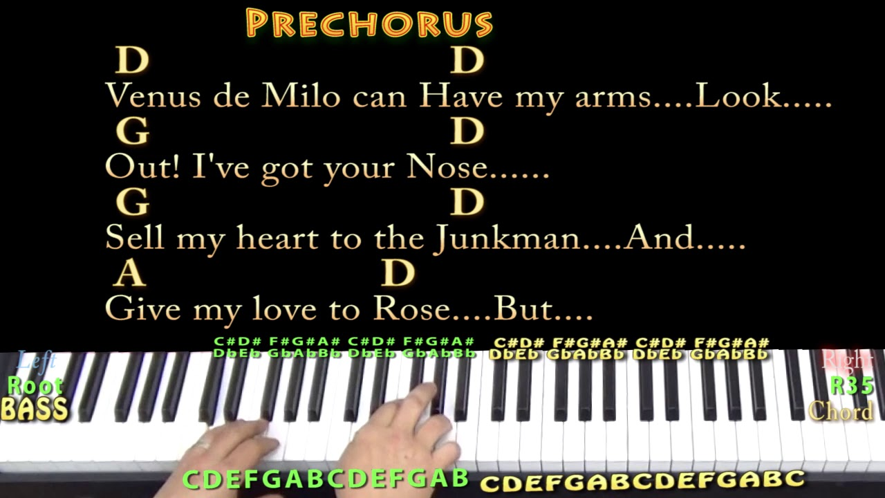 Please Don't Bury Me John Prine Piano Cover Lesson in D with Chords/Lyrics