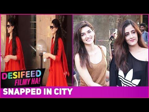 Jacqueline Fernadez Kriti Sanon & Nupur Sanon Spotted In City  Paparazzi