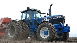 Ford TW-35 Working Hard in The Field Seeding w/ Kverneland Accord MSC 4000 | DK Agriculture