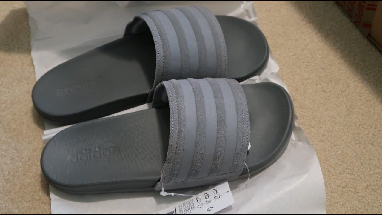 huge selection of 43a02 0f2af Adidas Adilette Ultra Explorer Slides Unboxing CLOUD FOAM