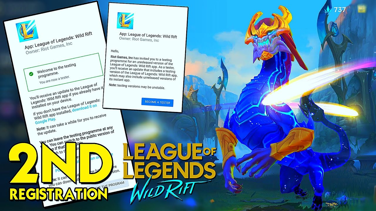 How To Become A Tester 2nd League Of Legends Wild Rift Android Ios Youtube
