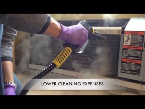 Dry Steam Air Conditioner Coil Cleaning Tecnovap Youtube
