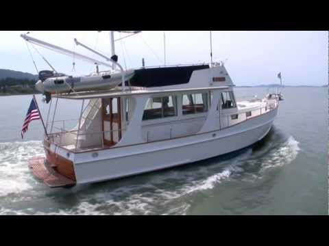 1998 Grand Banks 42' Europa trawler yacht cruising Bellingham Bay