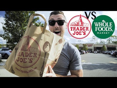 TRADER JOES VS. WHOLE FOODS | Grocery Haul & Meal Prep