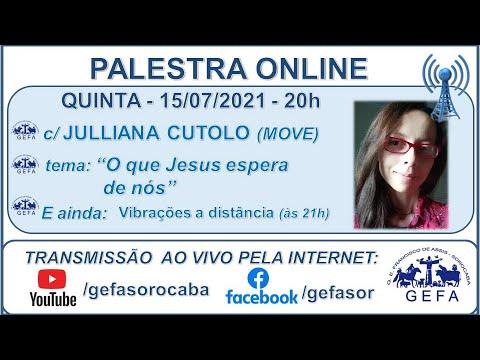 Assista: Palestra Online - c/ JULLIANA CUTOLO (15/07/2021)