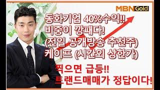 """[급등주선취매 김준호] """"동화기업"""" 주력주!! 40%수…"""