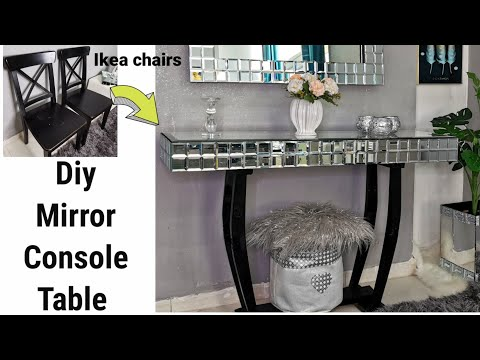 diy-console-table//ikea-hack-//reuse-ikea-dining-chairs