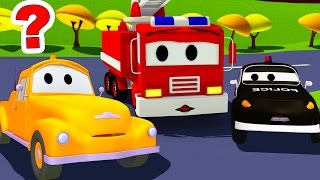 The Car Patrol: fire truck and police car : Where is Tom the Tow Truck in Car City ?