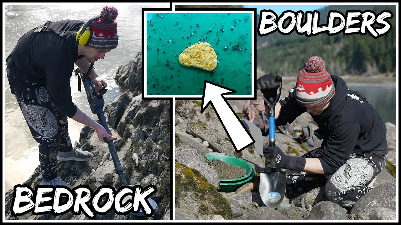 Finding Gold Under BOULDERS and in BEDROCK!