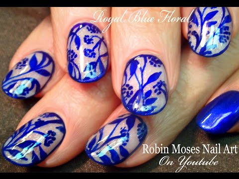 Royal blue flower design