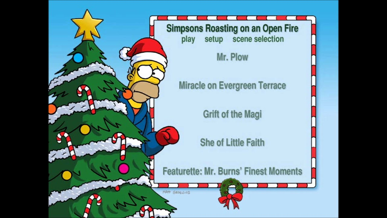 Simpsons Christmas Boogie.Christmas With The Simpsons Uk Dvd Menu