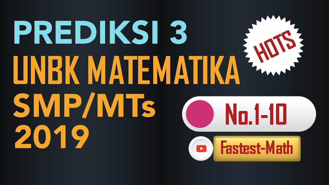 Pembahasan Soal Hots Un Matematika Smp 2018 Paket B No 21 24 By Fastest Math