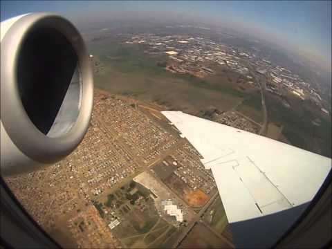 Embraer 135 of South African Airlink rocketing Lusaka to Johannesburg! [AirClips]