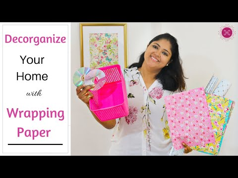 How To Decorate Home with Wrapping paper / DIY Home Decor Ideas On A Budget