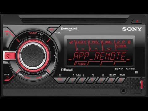 Sony WXGT90BT Bluetooth App Remote Car Stereo Receiver With Pandora Internet Radio App Control