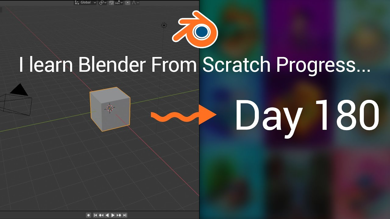 I learn Blender from scratch - 180 days progress (month 6th).