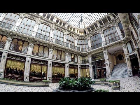 Turin, Italy. A Walk Around the City Centre. Galleria Subalpina, Palazzo Carignano, Via Lagrange