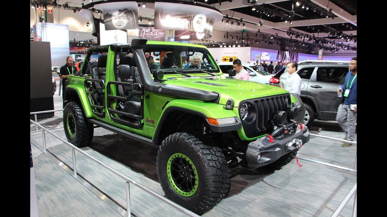 2018 Jeep Wrangler Jl Reveal 2017 La Auto Show Youtube
