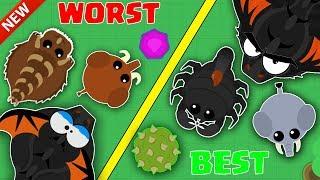 MOPE.IO / BEST VS WORSE ANIMALS TO CHOOSE IN MOPE.IO! / NEW MOPE.IO ANIMAL STRADEGY TIPS & GAMEPLAY!