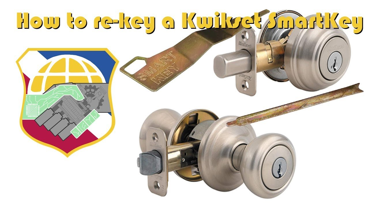 How To Rekey And Reset A Kwikset Smartkey Filp The Door Knob Keyhole Key Cylinder Removal Youtube