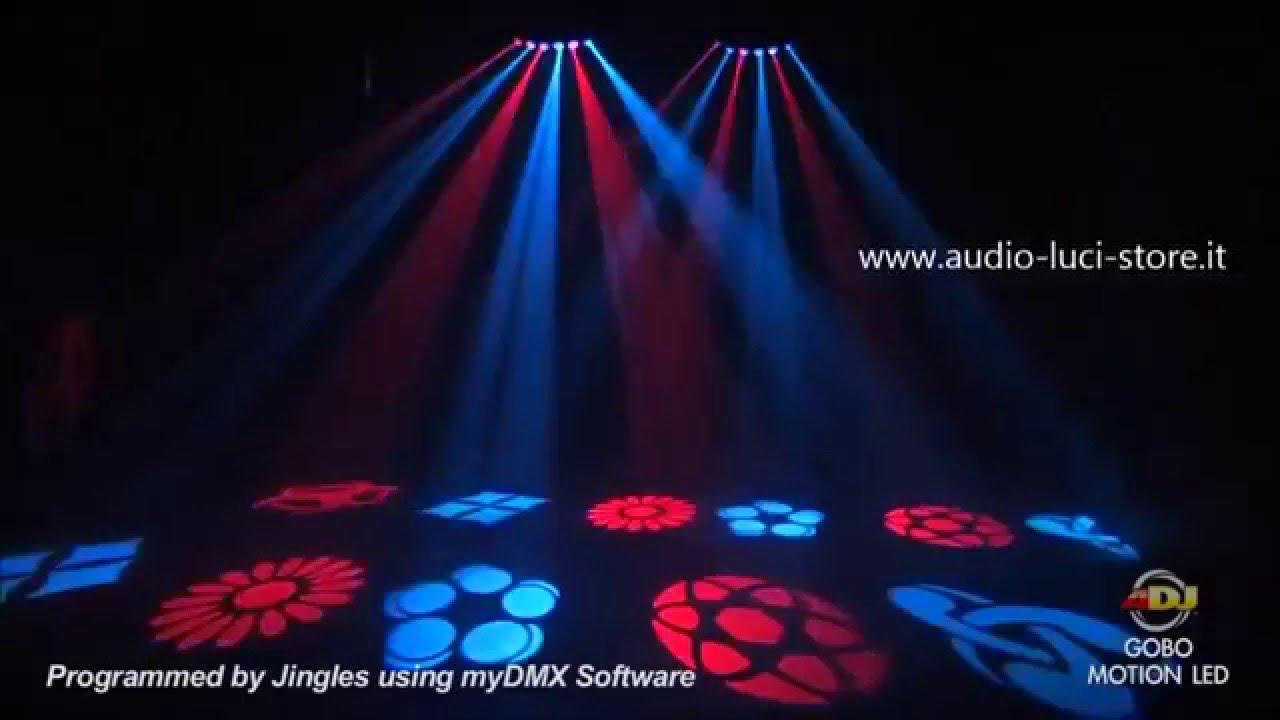 Luci discoteca a led bellissimo effetto luce per dj youtube for Luci tubolari a led