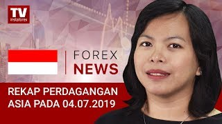 InstaForex tv news: 04.07.2019: USD datar setelah komentar Trump (USDX, JPY, AUD)
