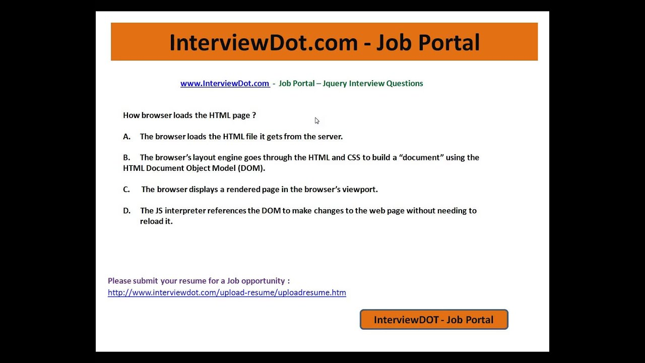java script interview question jquery interview question DOM java ...